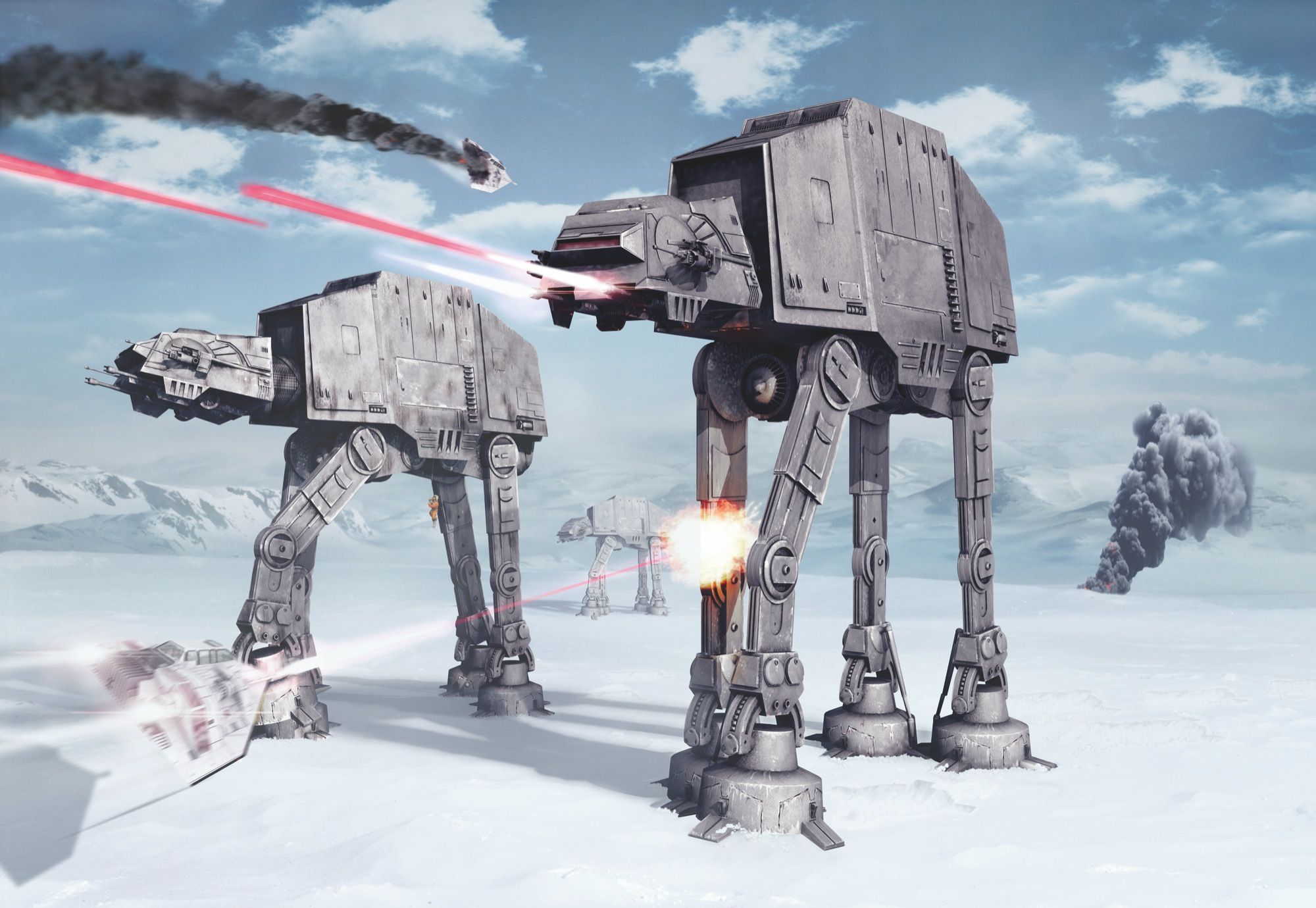 Photomural Quot Star Wars Battle Of Hoth Quot From Komar
