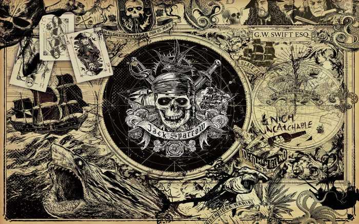 Digital wallpaper Pirates of the Caribbean 5