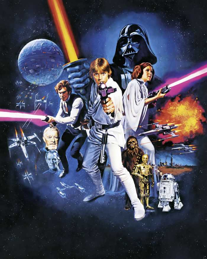 Digital wallpaper Star Wars Poster Classic 1