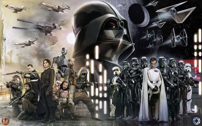 Digital wallpaper Star Wars Collage