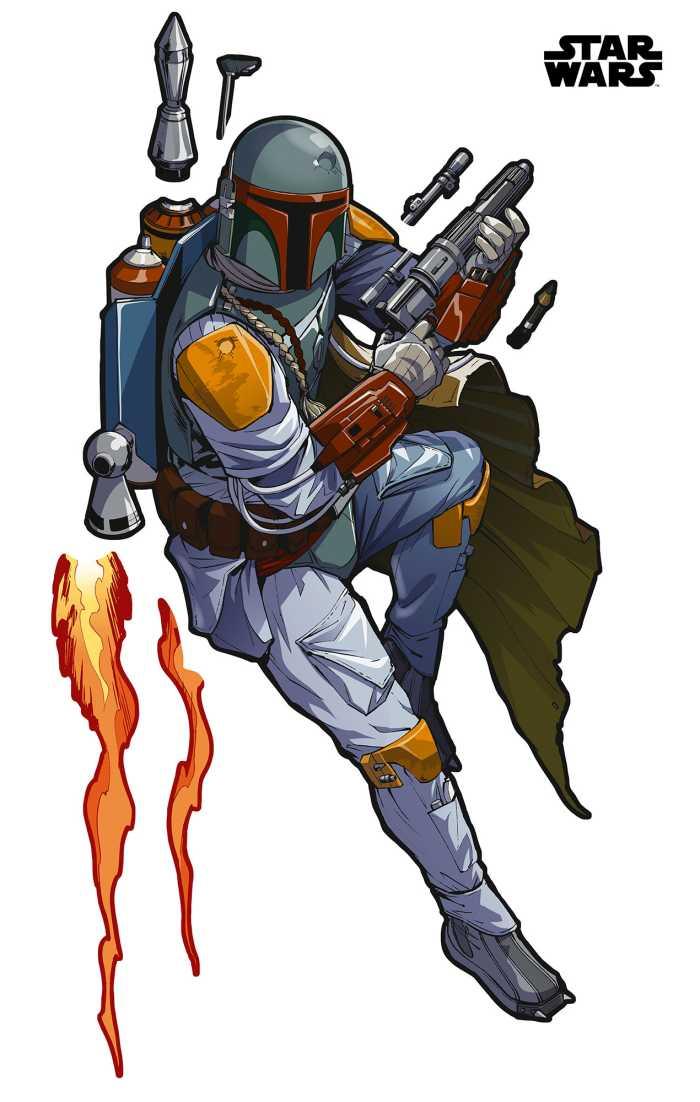 Wall tattoo Star Wars XXL Boba Fett