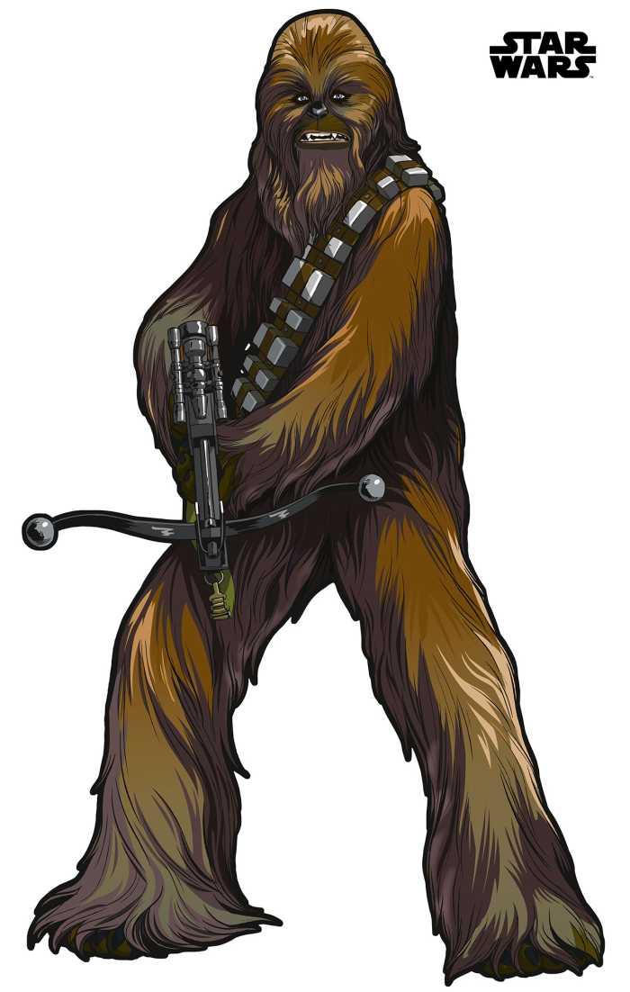 Wall tattoo Star Wars XXL Chewbacca
