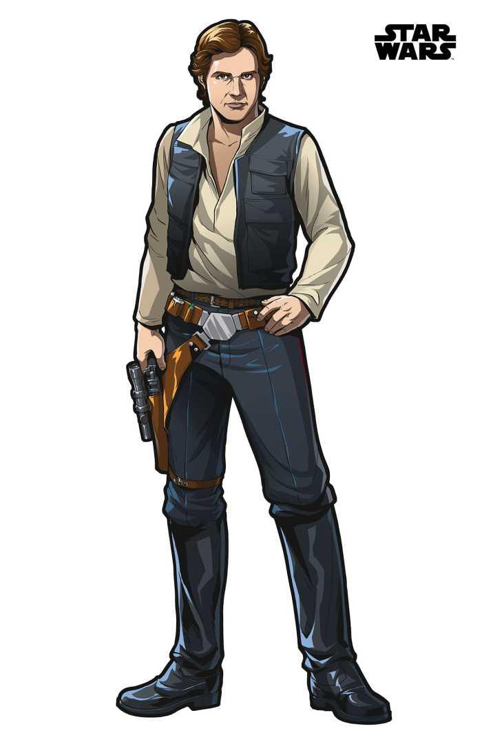 Wall tattoo Star Wars XXL Han Solo