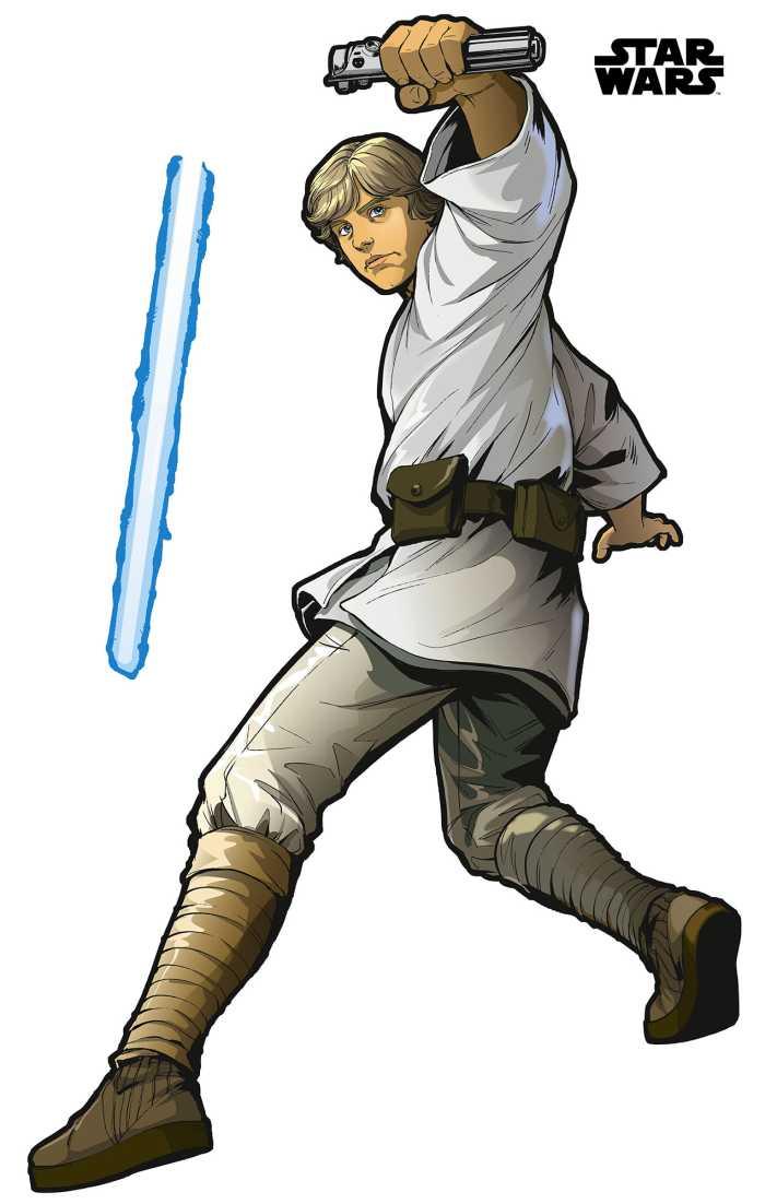 Wall tattoo Star Wars XXL Luke Skywalker