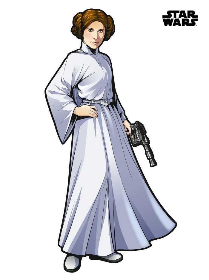 Wall tattoo Star Wars XXL Princess Leia