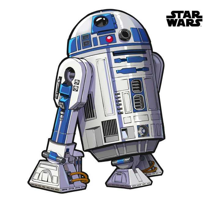 Wall tattoo Star Wars XXL R2D2