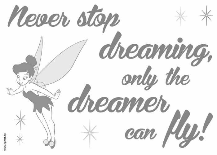 Wall tattoo Never stop dreaming