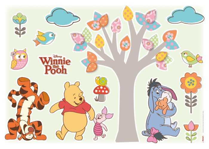 "Wall tattoo Sticker ""Winnie the Pooh Nature Lovers"" in Hülse"