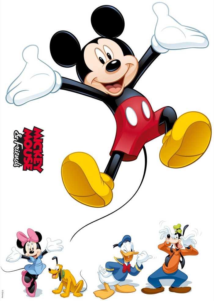 Wall tattoo Mickey and Friends