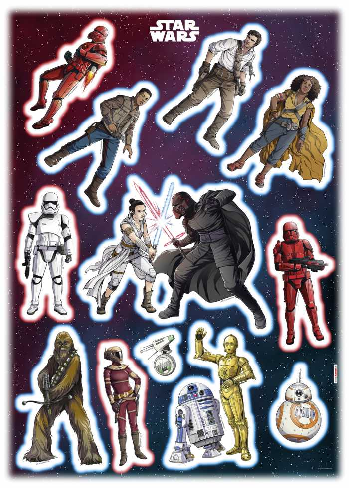 Wall tattoo Star Wars Heroes Villains