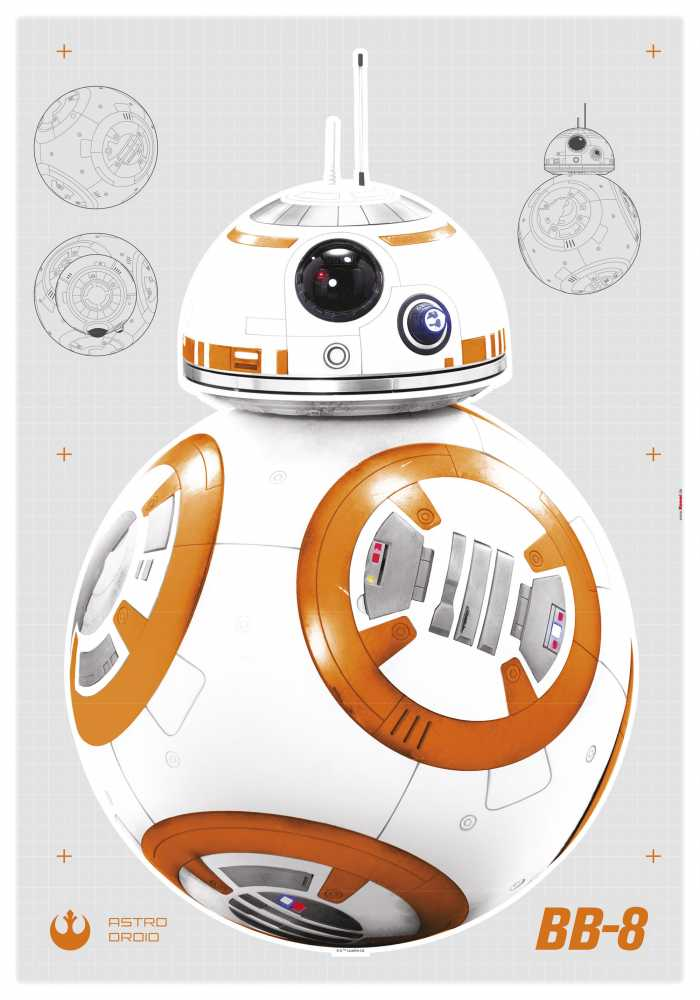 Wall tattoo Star Wars BB-8