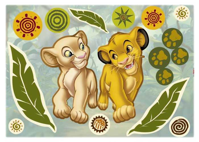 Wall tattoo Simba and Nala