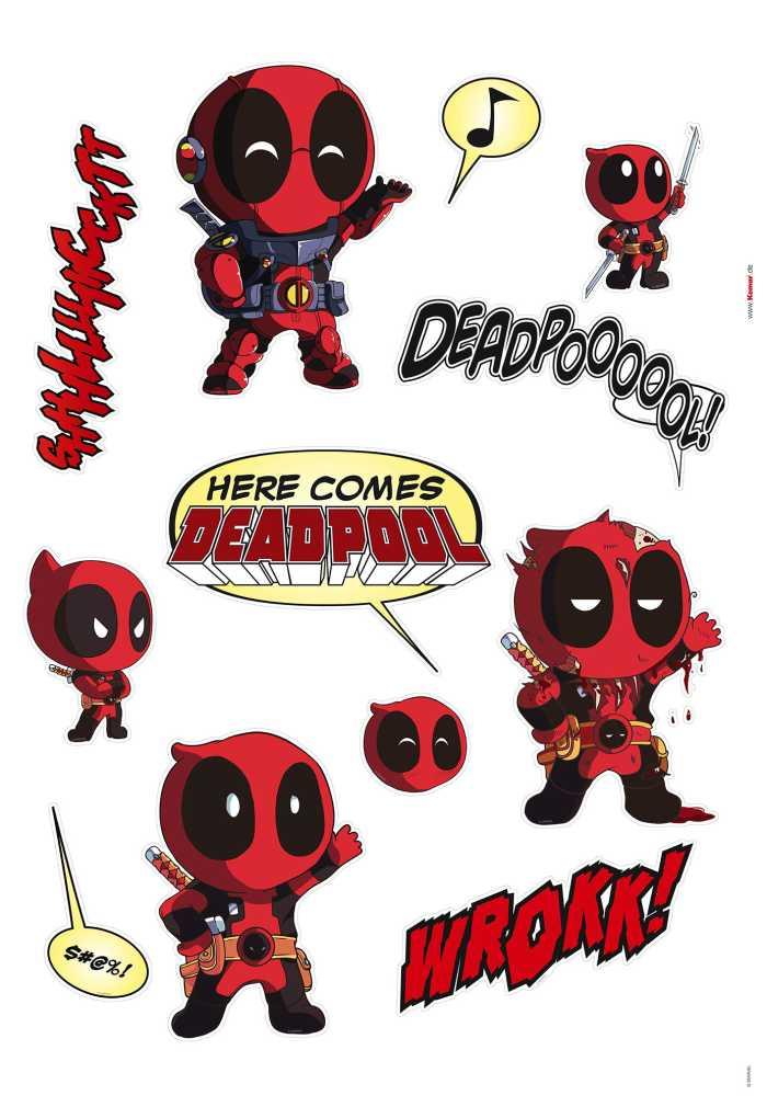 Wall tattoo Deadpool Cute