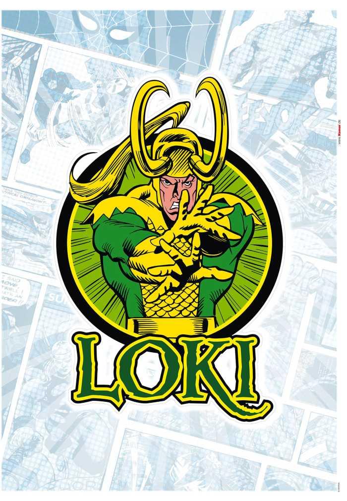 Wall tattoo Loki Comic Classic