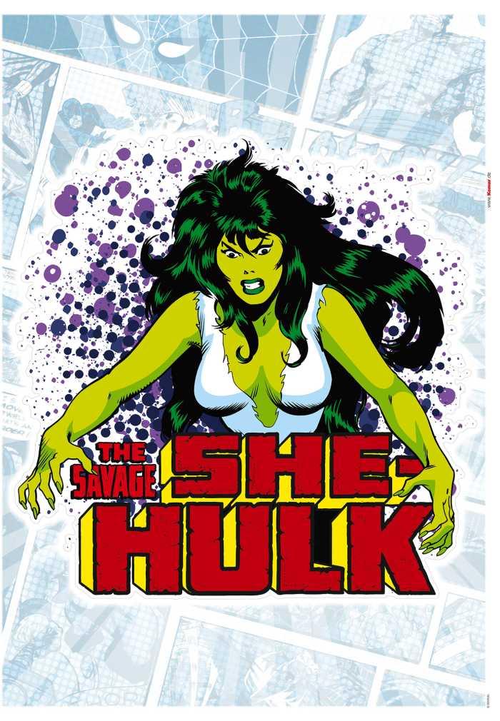 Wall tattoo She-Hulk Comic Classic