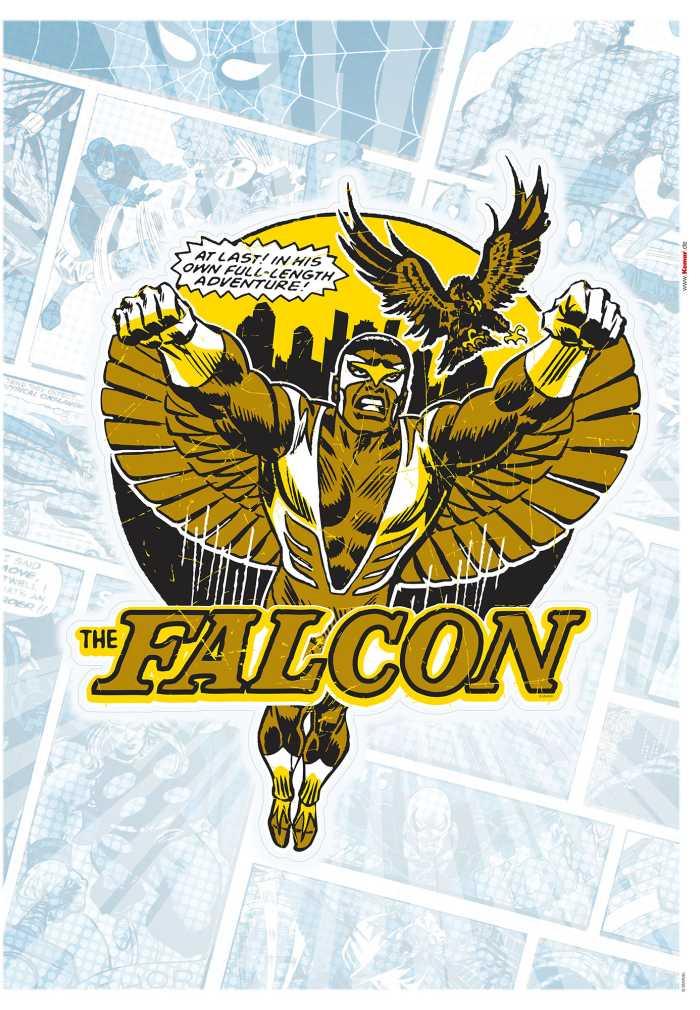 Wall tattoo Falcon Gold Comic Classic