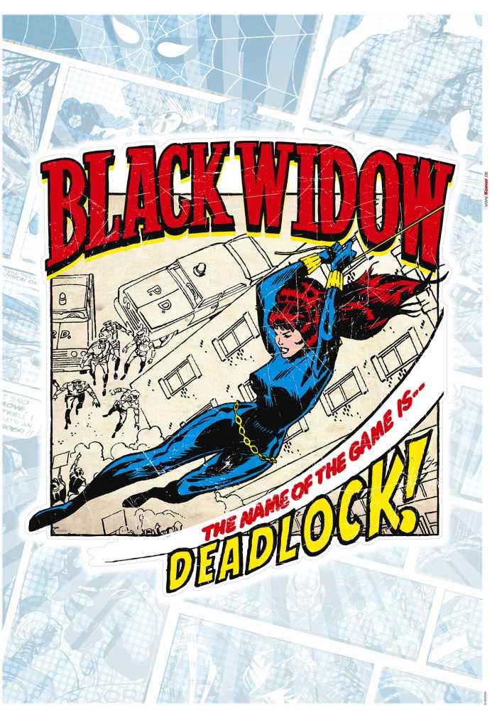 Wall tattoo Black Widow Comic Classic