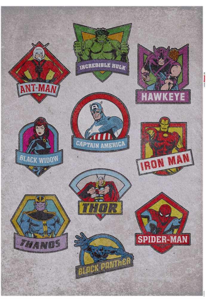 Wall tattoo Avengers  Classic Badges