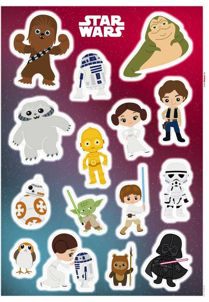 Wall tattoo Star Wars Little Heroes