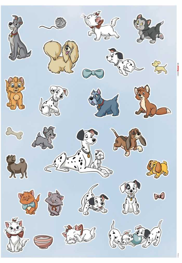 Wall tattoo Disney Cats and Dogs
