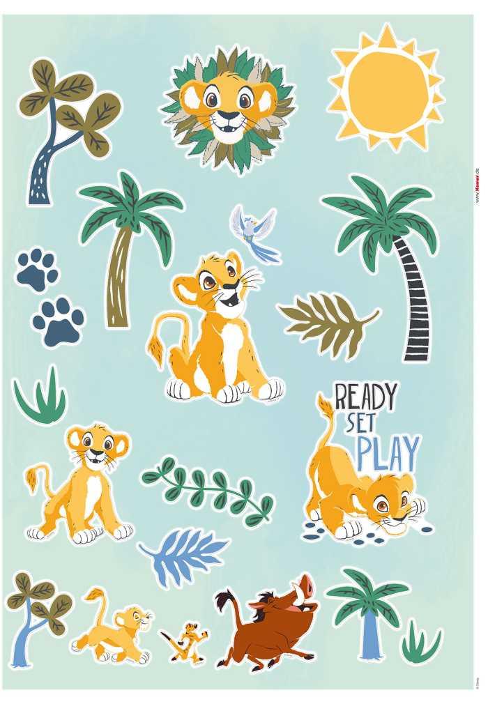 Wall tattoo Lion King Palmtrees
