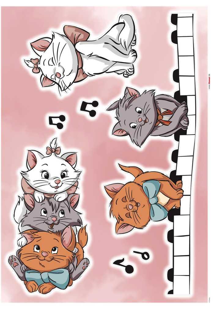 Wall tattoo Aristocats Kittens