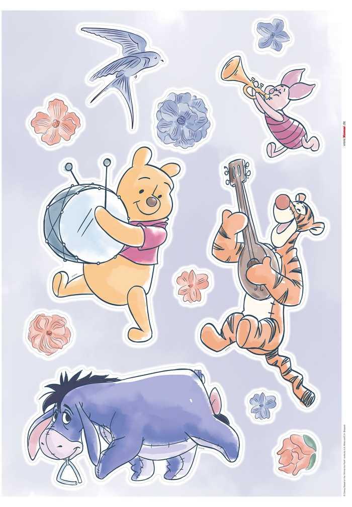 Wall tattoo Winnie the Pooh - Flowers & Music