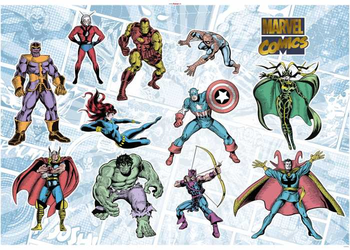 Wall tattoo Marvel Comics Collection