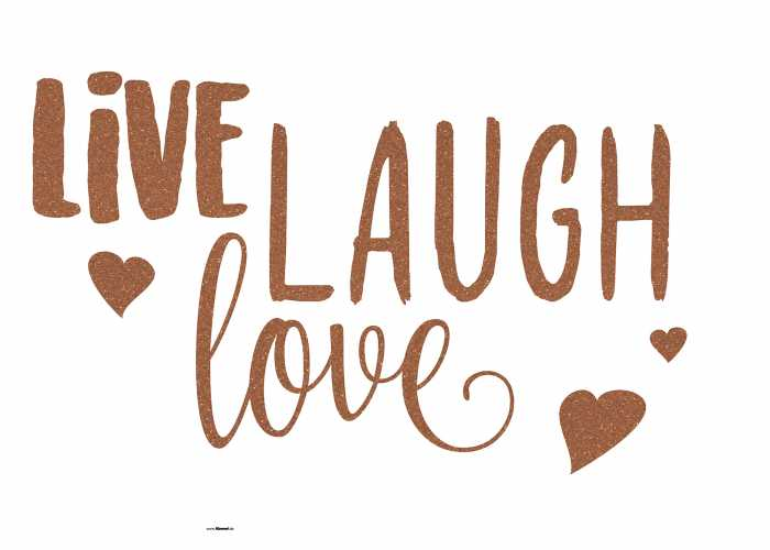 Wall tattoo Live Laugh Love