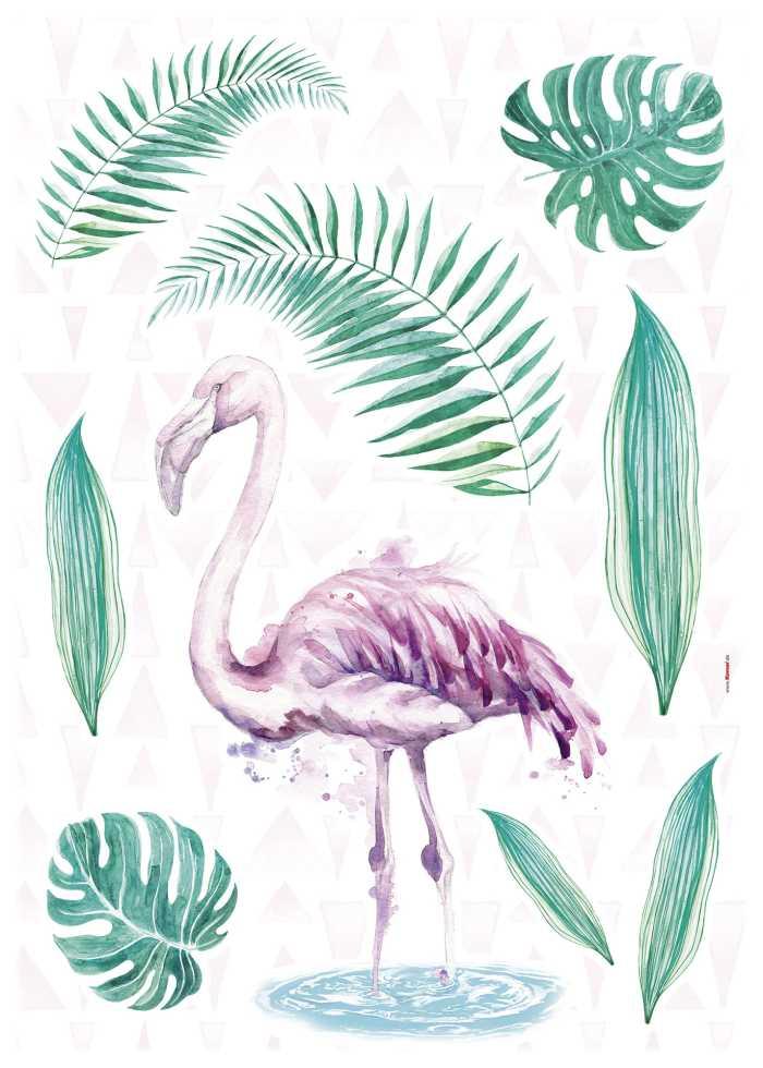 Wall tattoo Flamingo