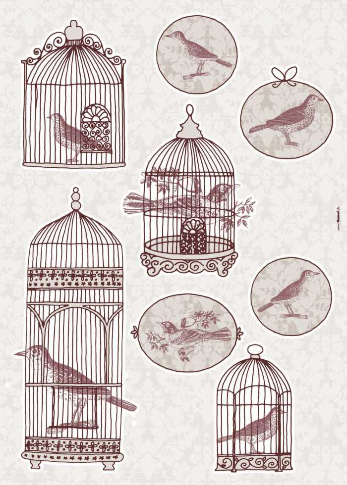 Wall tattoo Bird Cage