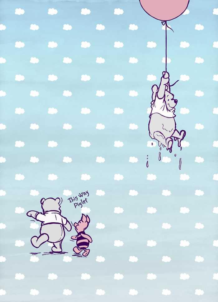 Photomural Winnie Pooh Piglet