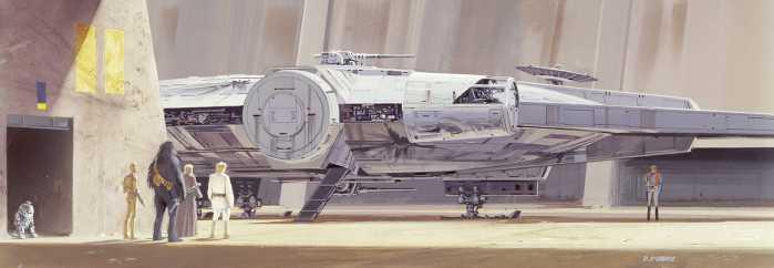 Photomural Star Wars Classic RMQ Millenium Falcon