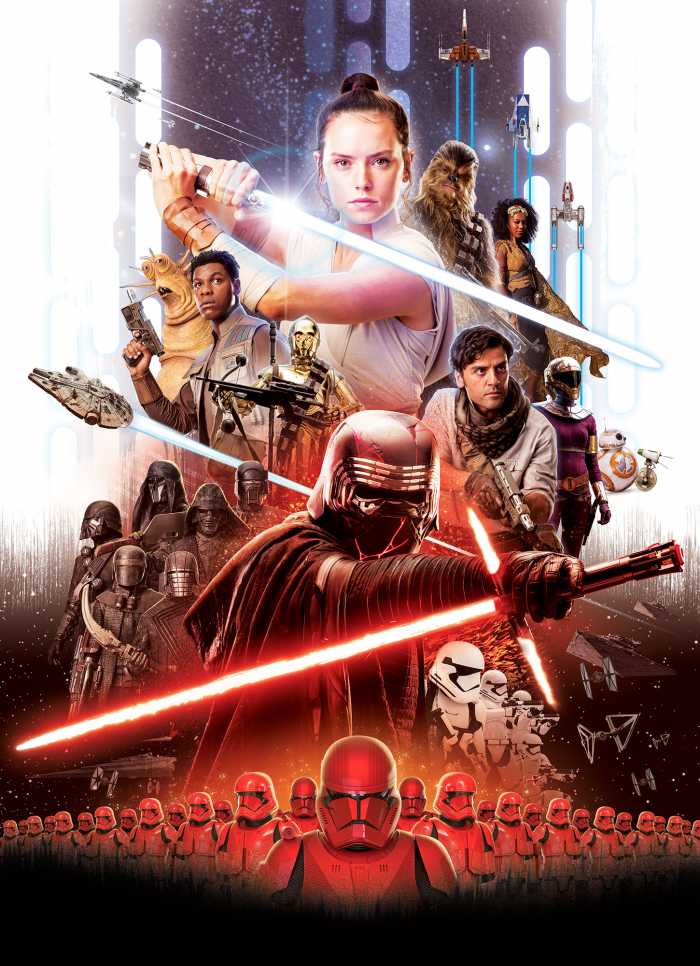 Photomural Star Wars Movie Poster Rey