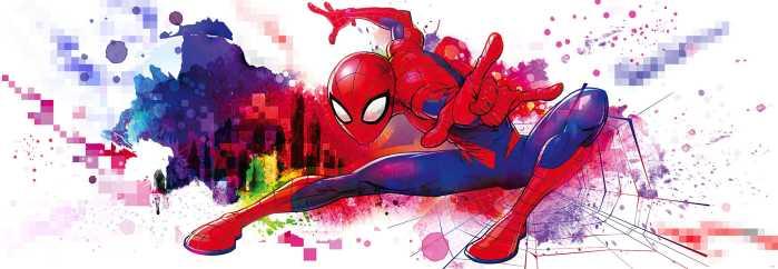 Photomural Spider-Man Graffiti