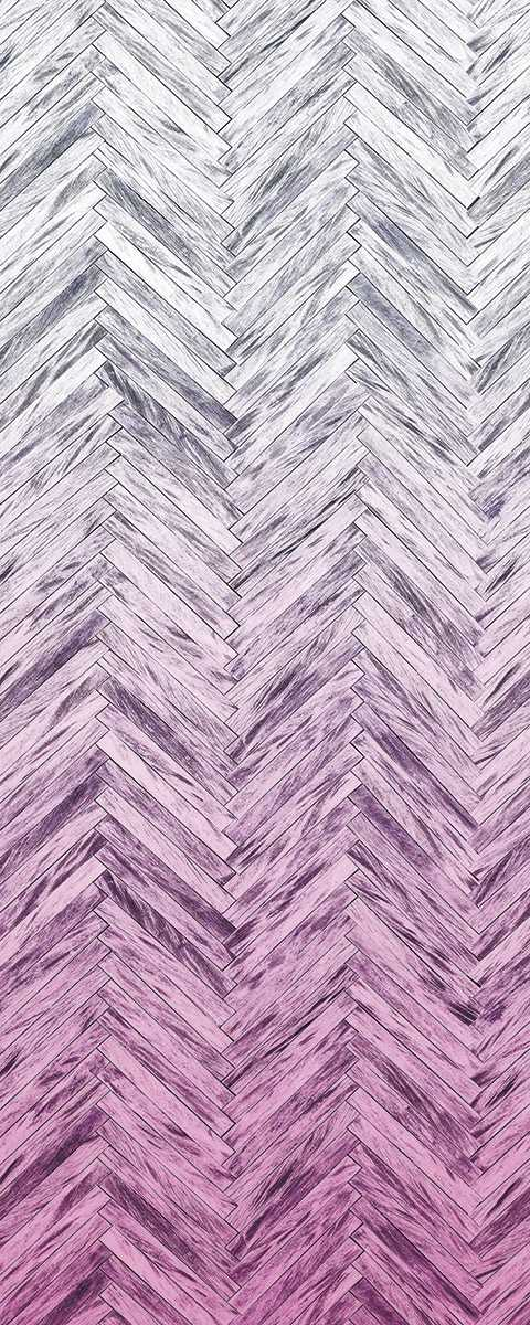 Panel Herringbone Pink Panel