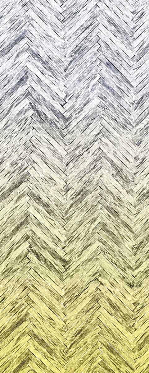 Panel Herringbone Yellow Panel