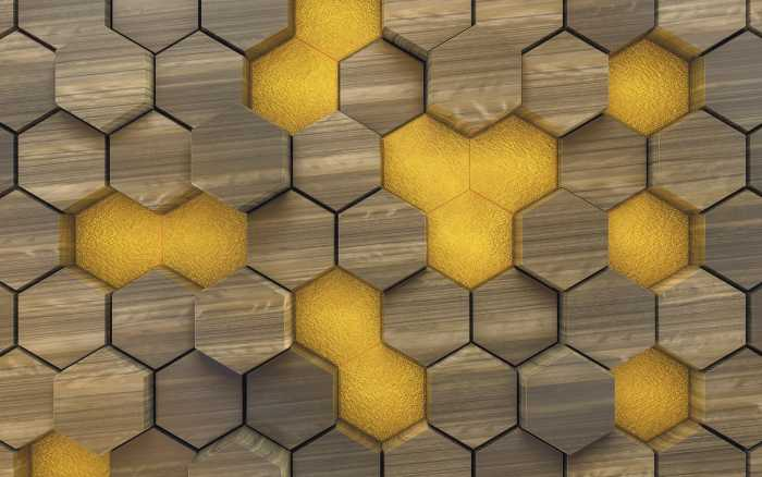 Digital wallpaper Woodcomb Olive