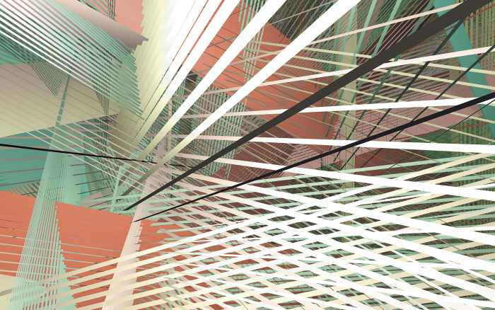 Digital wallpaper Space Grid Autumn