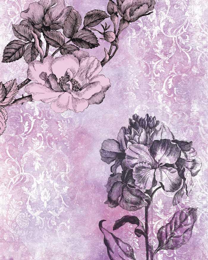 Digital wallpaper Baroque Pink