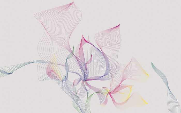 Digital wallpaper Spring Leaves