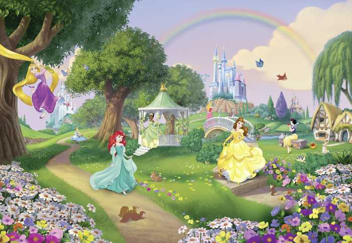 Photomural Princess Rainbow