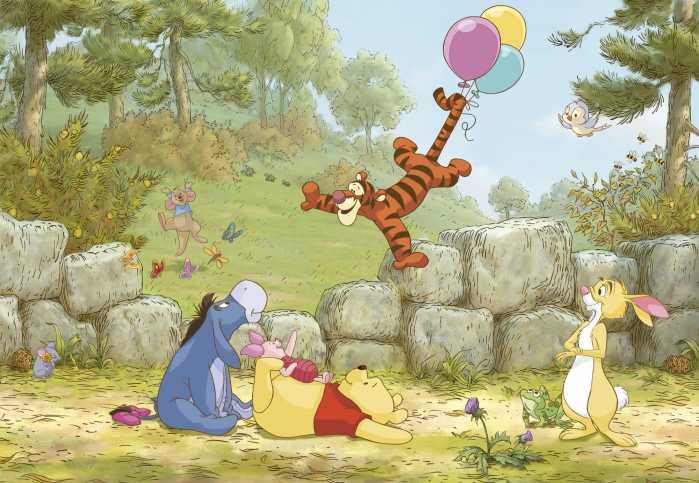 Photomural Winnie Pooh Ballooning