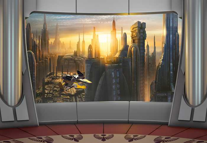 Photomural Star Wars Coruscant View