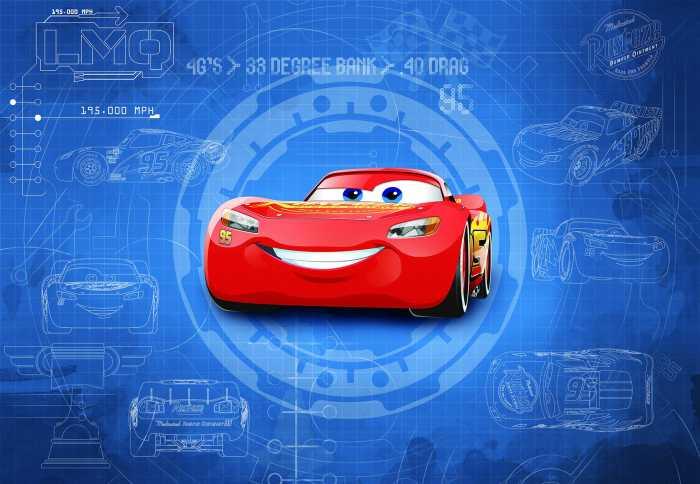 Photomural Cars3 Blueprint