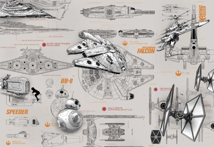 Photomural Star Wars Blueprints