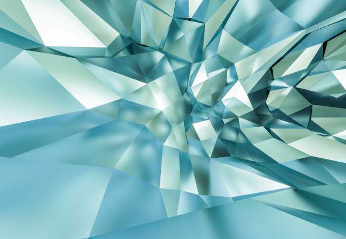 Photomural 3D Crystal Cave