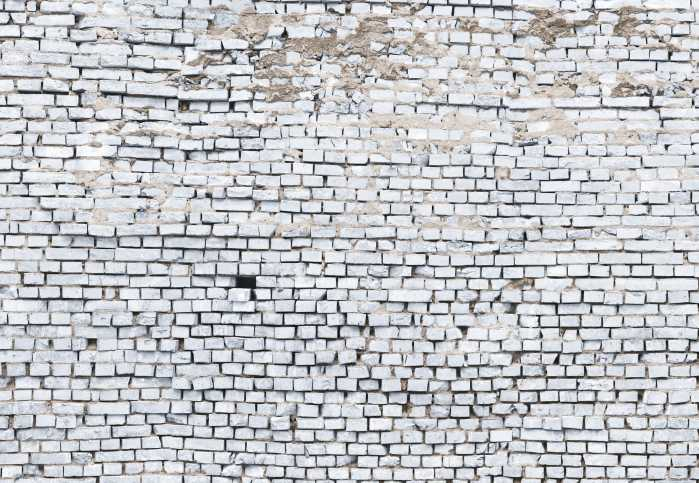 Photomural White Brick