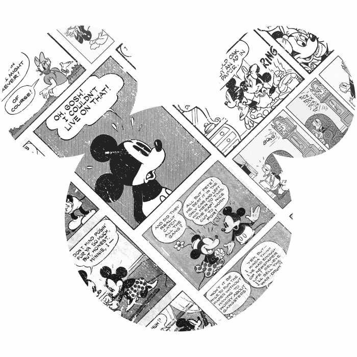 Wall tattoo Mickey Head Comic Cartoon