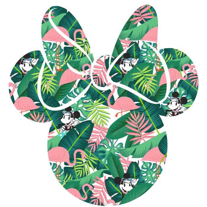 Wall tattoo Minnie Head Tropical